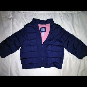 Baby Gap Coat Navy Blue Solid